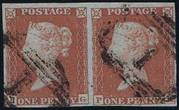 1852 1d PL157 (PG-PH) B 2(1) red-brown (XbarGEx,HSfsjnEx)  PRODÁ