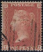 1855 1d PL10 (II) C 4 red-brown (blued paper)  PRODÁNO