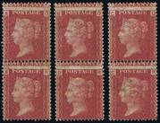 1864 1d PL74 (QA-RC) G 1 (1) rose-red B6 UN  PRODÁNO
