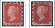 1864 1d PL 87,152 (SH,AI) G 1,2 rose-red UM, lake-red LM